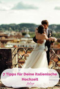 """Was könnte die italienische Lebenslust besser beschreiben als """"La Dolce Vita"""" - Das süße Leben. Im Land von Pasta, Pizza und vor allem Amore werden Temperament, Genuss und die Liebe daher ganz groß geschrieben. Da verwundert es kaum, dass gerade italienische Hochzeiten mit viel Leidenschaft und geprägt von reichlich romantischen Traditionen gefeiert werden. Hier sind 7 Tipps, damit dein großer Tag einfach nur """"perfetto"""" wird."""