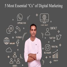 Are you Digital Marketer or Want to promote your business Globally. Below are 5 Most Essential C's of Digital Marketing. Digital Web, Digital Marketing Strategy, Promote Your Business, Internet Marketing, Communication, Essentials, Online Marketing, Communication Illustrations