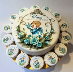 angel & turquoise roses ♥ - cake by zeiko Angel Cake, Rose Cake, Creative Cakes, Fondant Cakes, Cake Decorating, Decorative Plates, Turquoise, Art Cakes, Sweet