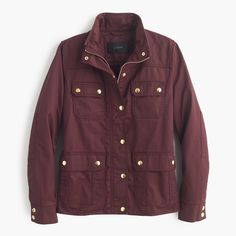 J.Crew downtown field jacket|  Love this color! It is my favorite color to wear.   #JCrew #Autumn #FallClothes