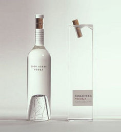 Vodka Packaging by Arnell 1000 Acres Vodka. I love the subtle tree at the bottom of the Acres Vodka. I love the subtle tree at the bottom of the bottle Cool Packaging, Bottle Packaging, Brand Packaging, Packaging Design, Bottle Labels, Coffee Packaging, Beer Labels, Product Packaging, Alcohol Bottles