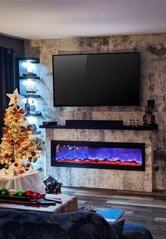 Le foyer électrique mural Ambiance est un complément parfait pour aggrémenter vos soirées du temps des fêtes. Le mix est parfait!