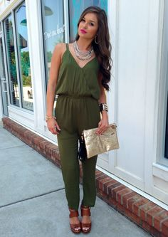 Olive green jumpsuit  swoonboutique Olive Clothing aca435da9c3