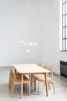 Beautiful The minimalist dining room may only contain tables and chairs and maybe a simple shelf to display some vases