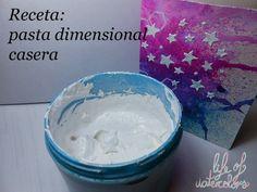 http://lifeofwatercolors.blogspot.com.es/2014/03/pasta-dimensional-casera.html