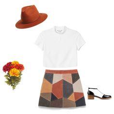 Orange by samarayared on Polyvore featuring polyvore, мода, style, Monki, Zara, 3.1 Phillip Lim and Brixton
