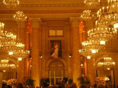 Ballroom in the Hofburg Palace, in the  the beautiful city of Wien where Dancer Against Cancer takes place.
