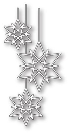 Box Die- Crystal Ornaments Craft Die 1850 now available at The Rubber Buggy Christmas Colors, Christmas Art, Christmas Ornaments, Paper Snowflake Patterns, Paper Art, Paper Crafts, Hanukkah Cards, Star Template, Painting Templates