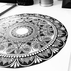 """2,177 Likes, 19 Comments - Lizzie Snow  Mandalas&Murals (@fortyonehundred) on Instagram: """"I am selling a few super limited edition prints of this new mandala!!  Message me for more…"""""""