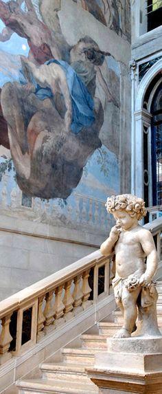 ~Staircase at Ca Sagredo Hotel, Venice, Italy | House of Beccaria