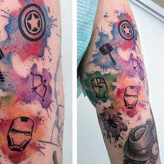 avengers watercolor logos - Google Search