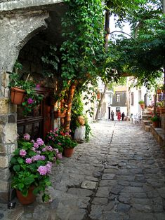 Beautiful alley in Samothrace island North east Aegean sea Greece Greece Vacation, Greece Travel, Beautiful Islands, Beautiful Places, Places To Travel, Places To See, Samos, Santorini Greece, Greece Wedding