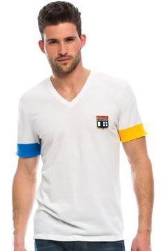 Armani Exchange Contrast Sleeve Pique T-Shirt  29 392acdd56c5