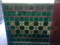"A nicely tiled ""Wally "" close on the southside of Glasgow. Sorry for the picture quality it was taken on my phone."