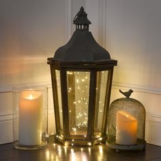Luminara Wax Candle, 3.5 by 5-Inch & 7-Inch, Ivory - Pillars