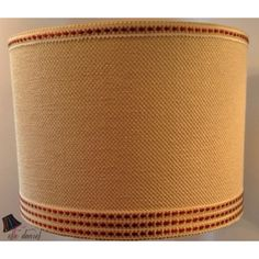 Custom lamp shade - orange drum lamp shade. Order custom shades at www.elledaniel.com or buy designer shades at www.etsy.com/shop/elledaniel #LampShades #Custom #Sarasota