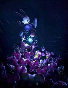 Epic mickey: Oswald The Lucky Rabbit Disney Epic Mickey 2, Disney Games, Disney Fan Art, Disney Love, Disney Magic, Disney Pixar, Rabbit Wallpaper, Oswald The Lucky Rabbit, Concept Art World