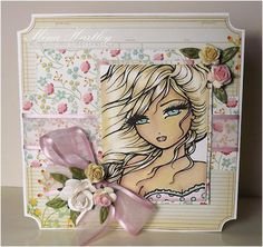 I just love this Hannah Lynn image called Cali Girl available at Crafts & Me. Coloured to perfection by Mina Hartley of Pinkpuds. So pretty.