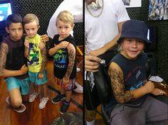 Benjamin Lloyd 'tatua' crianças doentes em hospital;