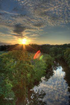 Orange & Green Sunset - Roanoke VA Photography Terry Aldhizer | Flickr - Photo Sharing!