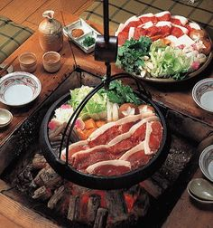 Japanese Food / ぼたん鍋(Wild Boar Hot Pot)