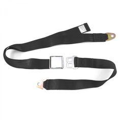 2 Point Black Lap Seat Belt with DOT Cert 88 Inch e67faf3c36f1