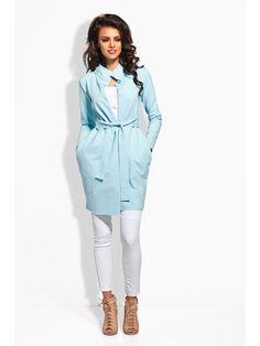 c91c84ab5160 Γυναικείο παλτό LEMONIADE - ανοιχτό μπλε