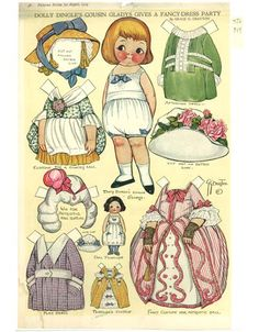Bonecas de Papel: Dolly Dingle Paper Dolls