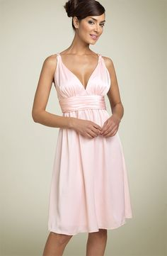 Beautiful clothes | Love the neckline on this Calvin Klein chiffon gown! Pretty in pink ;)