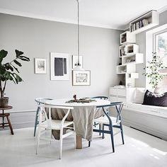 Scandinavian dining space with window seat via @entrancemakleri - full tour on my blog