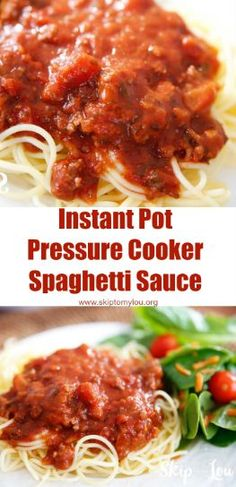 How to make spaghetti sauce in the pressure cooker. An easy recipe for the instapot #recipes #instantpot #instapot #pressurecooker