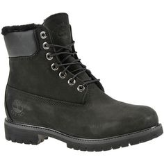 "Timberland Heritage 6"" Warm Lined  Men's Black Boot ($240) ❤ liked on Polyvore featuring men's fashion, men's shoes, men's boots, men's work boots, black, timberland mens work boots, mens black lace up boots, mens work boots, mens fur lined boots and mens waterproof boots"