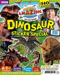 Andy's Amazing Adventures Dinosaur Sticker Special contains 140 stickers and is packed full of learning and fun. With lots to do and discover, here's just some of what's inside:  > A-Z of dinosaurs  > Timeline wall banner  > Sticker story  > Andy poster  plus lots more!    Are your little ones ready to explore and complete the sticker adventures inside? Buy your copy now!
