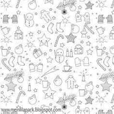 Free printable Christmas coloring page - ausdruckbares Malblatt - freebie | MeinLilaPark | Bloglovin'