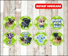 Puppy Dog Pals toppers instant download Puppy Dog Pals | Etsy Table Labels, Food Labels, Bag Toppers, Cupcake Toppers, Food Tent, Tent Cards, Thank You Tags, Diy Wreath, Clipart