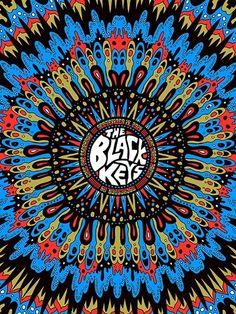 The Black Keys - gig poster - Nate Duval