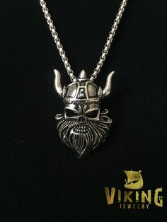 This Undead Viking Warrior Pendant size is 42*27*8mm made with high quality stainless steel that will never wear or tarnish and will last longer than a lifetime! Order the 'with chain' option and rece