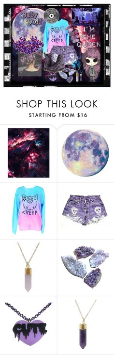 """""""I'm The Queen"""" by xxonyx-lightwaterxx ❤ liked on Polyvore featuring Manic Panic NYC, Quarto Publishing, Dr. Martens and Humble Chic"""