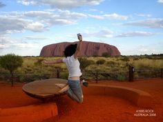 This shot was taken in Uluru by my fellow backpacker friend when we were in Australia last 2008