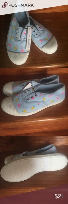 NWT- Sonoma Girls Slip-on Sneakers Product Details  She'll slip into casual style with these girl's SONOMA Goods for Life sneakers.   SHOE FEATURES  Colorful upper  SHOE CONSTRUCTION  Canvas upper and lining  TPR outsole  SHOE DETAILS  Slip-on  Padded footbed  Box ID: 356 Sonoma Shoes Sneakers