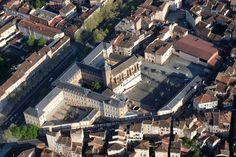 Lycée Lapérouse vu du ciel avec Atmosph'Air montgolfières occitanes