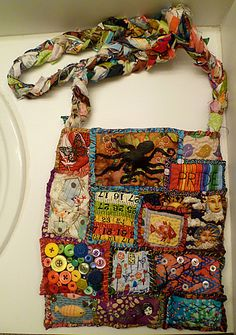 Love this, what a great use for scrap fabric. Teesha Moore #4 - I'm running out of creative titles already! - PURSES, BAGS, WALLETS