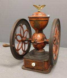 Large Table Model Double-wheel Cast Iron Coffee Grinder