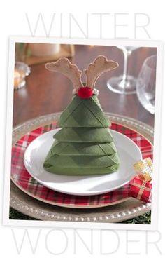 Christmas Tree Napkin Fold | Pier 1 Imports