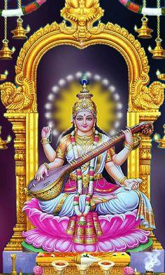 Saraswathi Devi, Saraswati Mata, Gk Knowledge, Tanjore Painting, Editing Background, Cool Photos, Princess Zelda, Good Things, Gallery