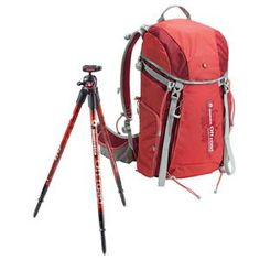Manfrotto MKBFRC4-BH BeFree Carbon Fiber Travel Tripod - Bundle - with Advanced Travel Backpack