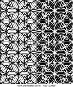Abstract seamless pattern, black and white floral pattern, geometric seamless ba... - #Abstract #black #Floral #geometric #pattern #seamless #white Tigeraugen Tattoo, Tattoo Dotwork, Geometric Patterns, Geometric Mandala, Floral Pattern Vector, Abstract Pattern, Mandala Tattoo Design, Tattoo Designs, Geometric Tattoos Men