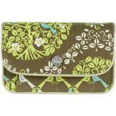 Vera Bradley Sittin in a Tree Quickstep Wallet Barely used Vera Bradley wallet with button clasp, change zipper, and ID holder, two credit card slots Vera Bradley Bags Wallets