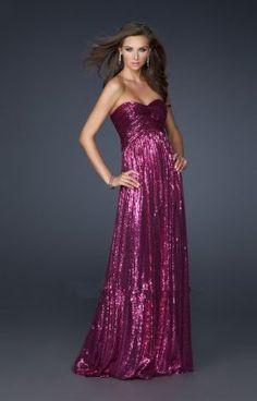 robe de soirée pailleté violette
