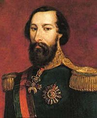 Fernando II (1816 - 1885). King of Portugal from 1837 to his wife's death in 1853. He was married to Maria II, and had six children with her.